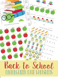 back to kindergarten math worksheets