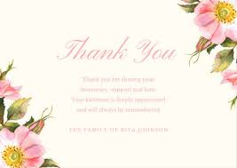 funeral thank you cards customize 28 funeral thank you card templates online canva