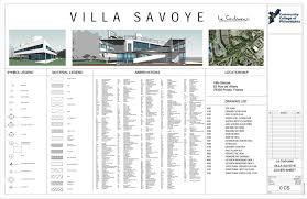 villa savoye revit construction documentation on behance