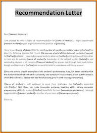 recommendation letter format samples sample recommendation