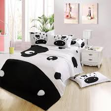 Cotton Queen Comforter Fashion Black And White Cow Quality Cotton Queen Full Size