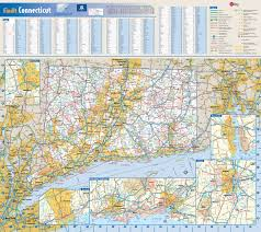 Connecticut National Parks images Large roads and highways map of connecticut state with national jpg