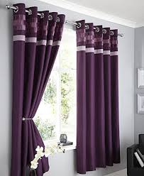 Plum Faux Silk Curtains Plum Faux Silk Lined Curtains With Eyelet Ring Top 66 X 90