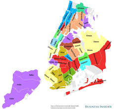 map of nyc areas nyc ancestry map business insider simple of nyc neighborhoods