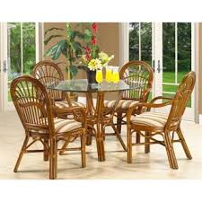 rattan kitchen furniture boca rattan dining room tables homeclick