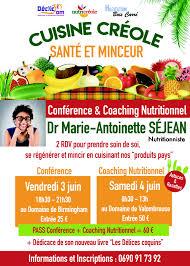 cuisine et santé cuisine créole santé minceur conférence atelier kkfèt l
