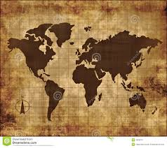 Map Fabric Old Fabric Paper Parchment Map Stock Photo Image 2929070