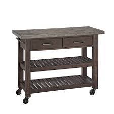 amazon com home styles concrete chic kitchen cart kitchen