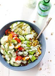 rainbow veggie bowls with jalapeño ranch recipe pinch of yum