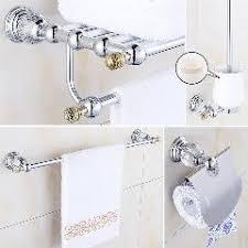 crystal chrome bathroom accessories set brass bathroom hardware