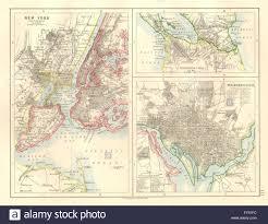 New York Washington Map by Us Cities Nicaragua Canal New York U0026 Washington Plans Johnston