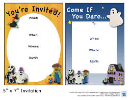 printable halloween themed birthday party invitations