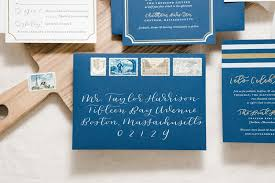 Gold Foil Wedding Invitations Paper U0026 Honeymodern Nautical Navy U0026 Gold Foil Wedding Invitations