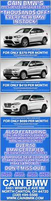 cain bmw used cars stop in this weekend and check out our presidents day sales event