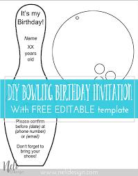 diy birthday invitations nelidesign