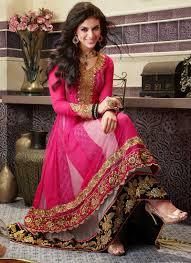 anarkali wedding dress pink color embellished wedding dress dressanarkali