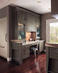 Kitchen Desk Area Ideas Office Library Light U0026 Timeless Kraftmaid I Would Love My