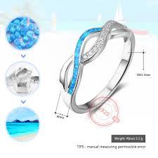 real blue opal aliexpress com buy fashion wave design blue opal stone finger