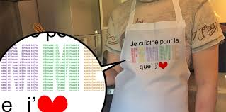 tablier de cuisine homme personnalisé tablier je cuisine pour mon amour cadeaux personnalisés onveut com