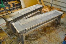 farm tables with benches how to build a farmhouse table stylish bench for throughout 12