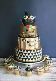owl birthday cakes black gold owl birthday