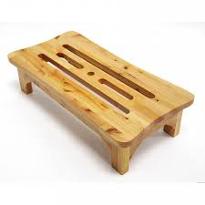 Step Stool For Kids Bathroom - wood step stool wide solid wooden natural bathroom high bed steps