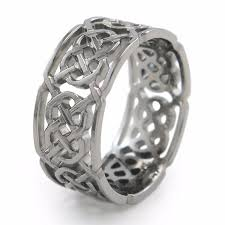 titanium celtic wedding bands merlin celtic inspired titanium ring titanium rings