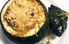 cuisiner courgette ronde courgettes rondes farcies au riz et à la viande hachée minute papille
