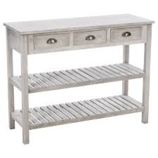 console 3 tiroirs console en bois 3 tiroirs esprit campagne atmosphera