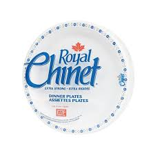 chinet plates royal chinet disposable dinner plates 10 3 8 package of 15
