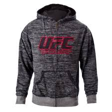 ufc men u0027s black gray twisted zip up hoodie large ufc athlete