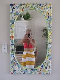 Mosaic Bathroom Mirror Mosaic Mirror By Cheryl Carlin Cc Mosaics Local