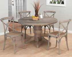 Round Dining Room Set Jofran Antique Gray Ash 7 Piece Dining Room Set Efurniture Mart