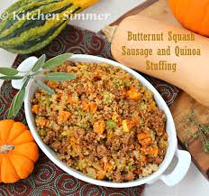 thanksgiving dressings kitchen simmer roasted butternut squash sausage and quinoa stuffing