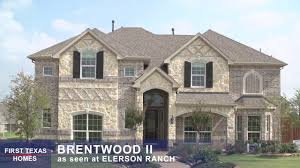 first texas homes the brentwood ii floor plan video tour youtube
