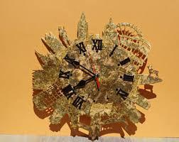 wall clock the moon wood clock unique wall clock handmade