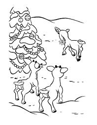 rudolph red reindeer coloring diaet