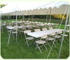 party tents table and chair rentals