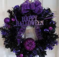 Halloween Wreath Halloween Wreath Black Wreath Tinsel Wreath Pumpkin Wreath