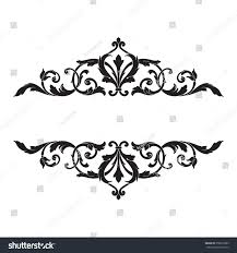 royalty free vintage baroque frame scroll ornament 358579883 stock