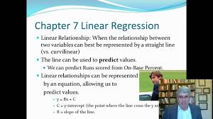 chapter 7 linear regression 1 of 6 of pagano u0027s understanding chapter 7 linear regression 1 of 6 of pagano u0027s understanding statistics