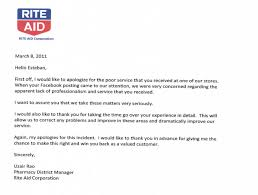 rite aid pharmacy and store apology letter to esteban escobar
