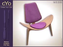 second life marketplace cyo lounge chair wegner ch07 u0027shell