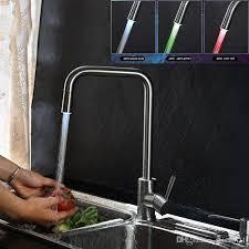 led kitchen faucets 2017 led kitchen faucet temperature color 304 stainless