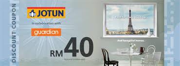 guardian free rm40 jotun paint discount coupon beauty