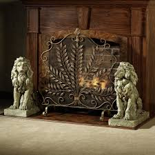 decorative fireplace screen unique hardscape design things to