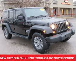 jeep sport tires 2011 used jeep wrangler unlimited sport 4wd premium alloy rims 4