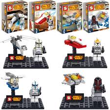 4sets star wars commander clone troopers x wing spaceship fighter
