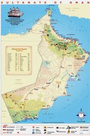 map of oman detailed tourist map of oman oman detailed tourist map vidiani