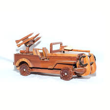 military jeep wooden military jeep with gun model mahogany